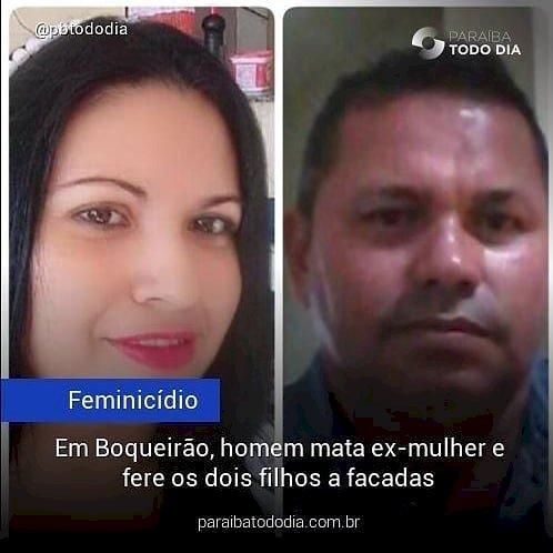 Em Boqueirão, homem mata ex e fere filhos a faca