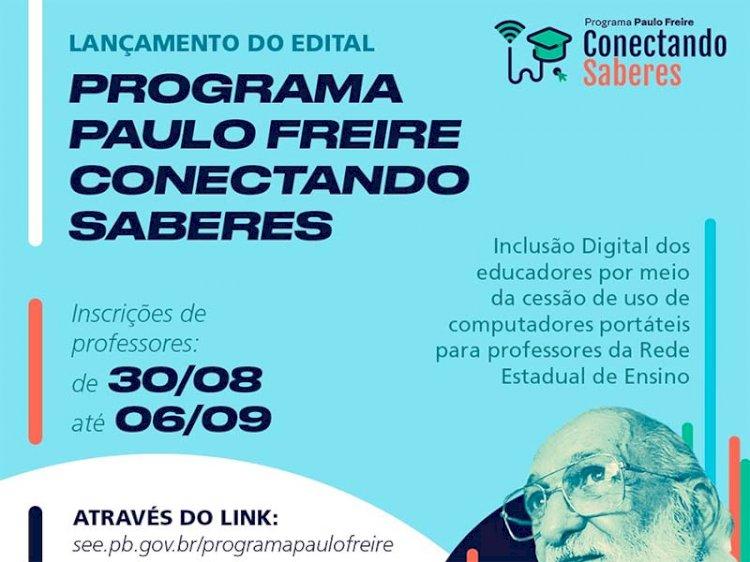 Paraíba divulga edital do programa que disponibilizará computadores para professores