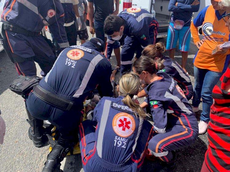 Mulher pula de garupa de moto e morre em Campina Grande